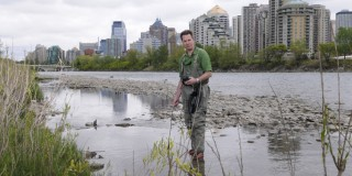 Photos of Leland Jackson, Advancing Canada's Wastewater Assets, Bow River, annual report 2009-2010, return to community. © University of Calgary 2010 Photographer: Riley Brandt